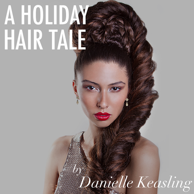A Holiday Hair Tale by Danielle Keasling on Bangstyle, House of Hair Inspiration