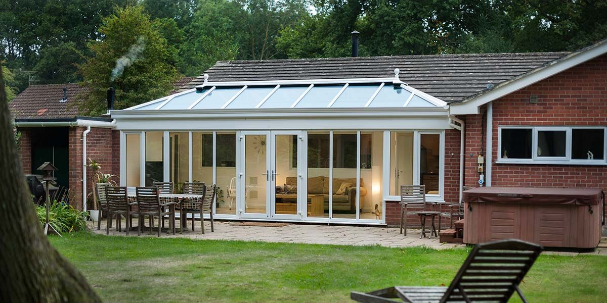 Large White Bespoke Conservatory | Outdoor living, Outdoor ... on Bespoke Outdoor Living id=44478