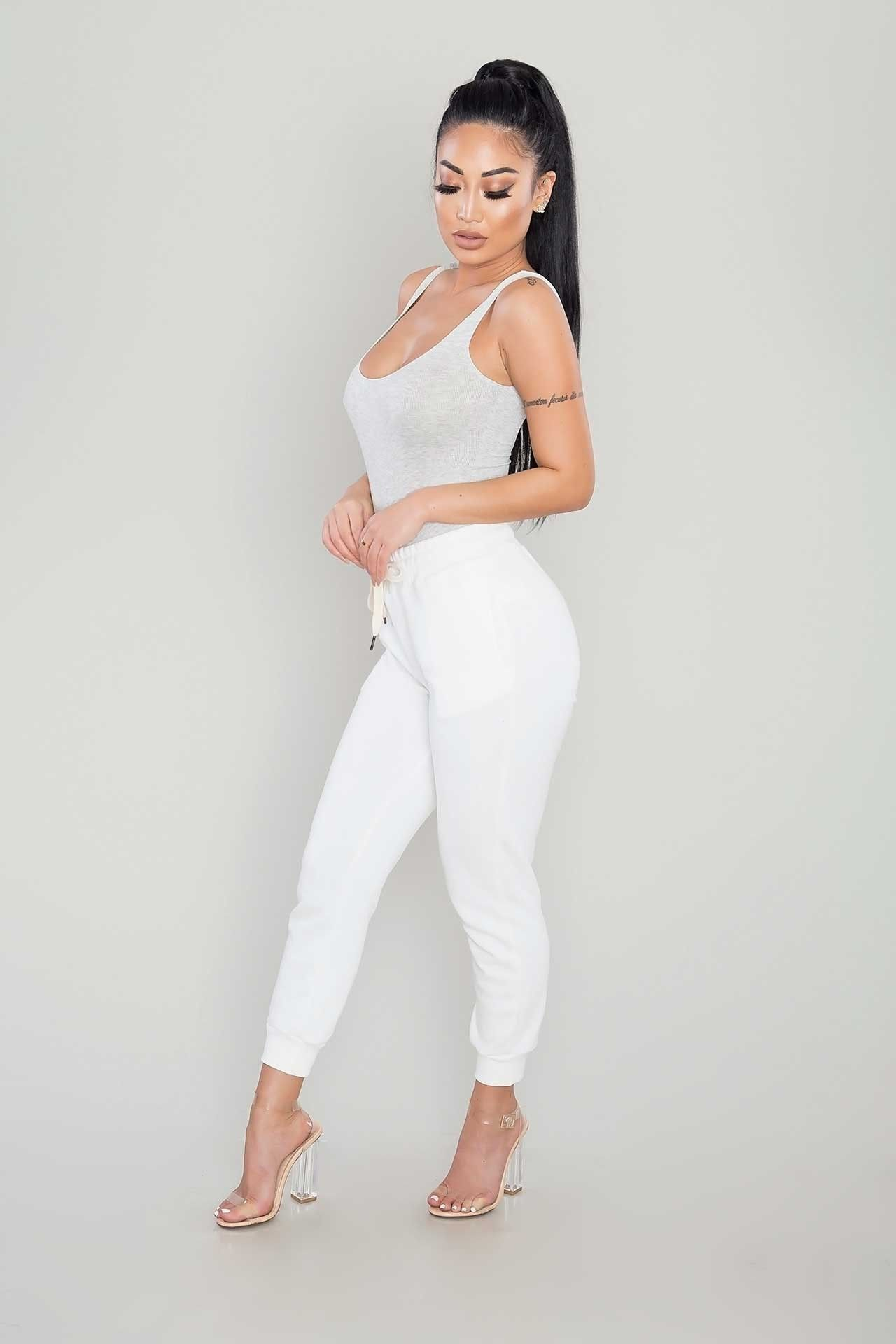 5e574e0a19 Scoop Back Ribbed Bodysuit - Heather Grey