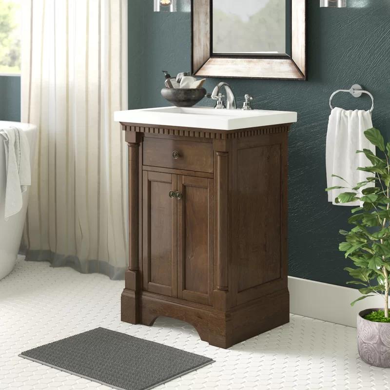 Greyleigh Seadrift 24 Single Bathroom Vanity Set Reviews Wayfair Bathroom Vanity Vanity Set Semi Frameless Shower Doors