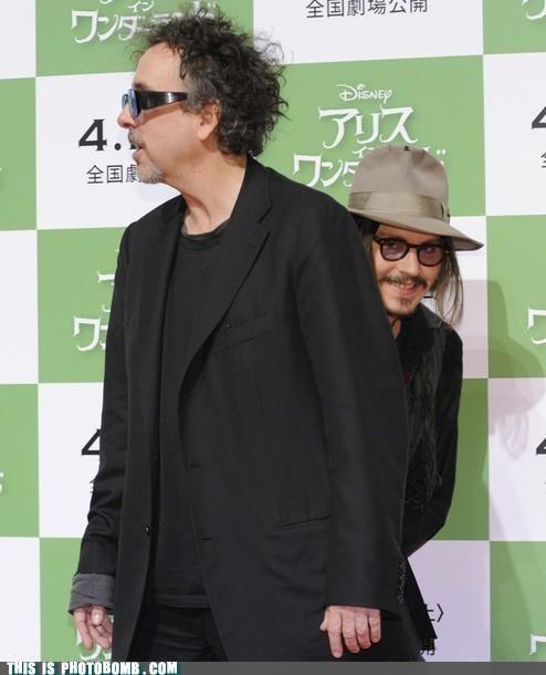 lol Johnny Depp photo bombin'