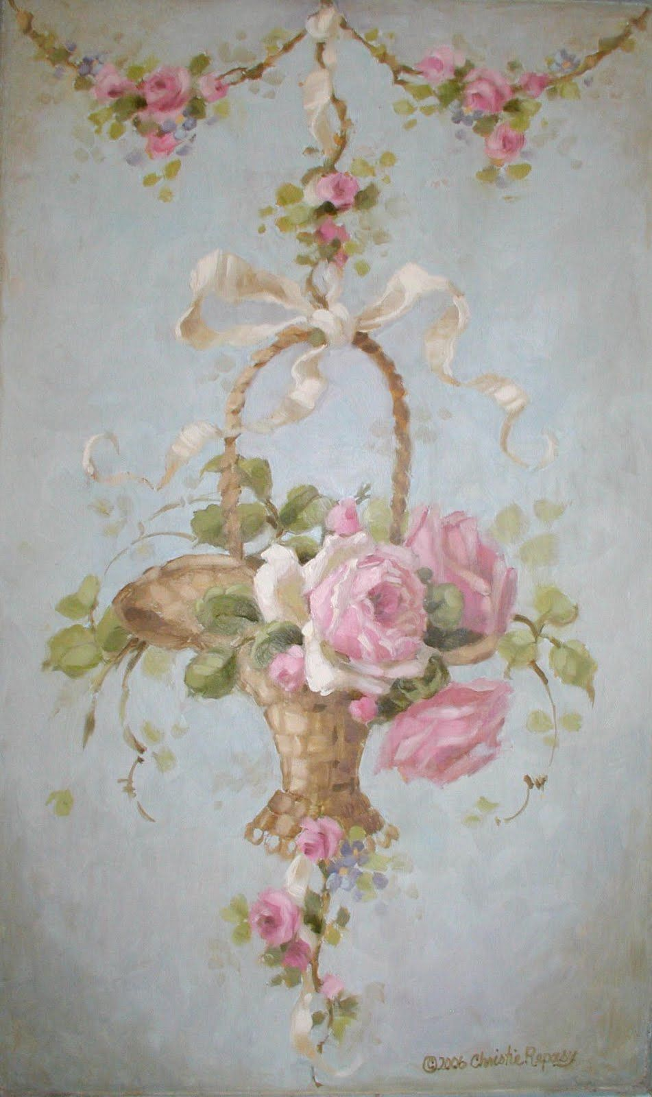 French basket painting