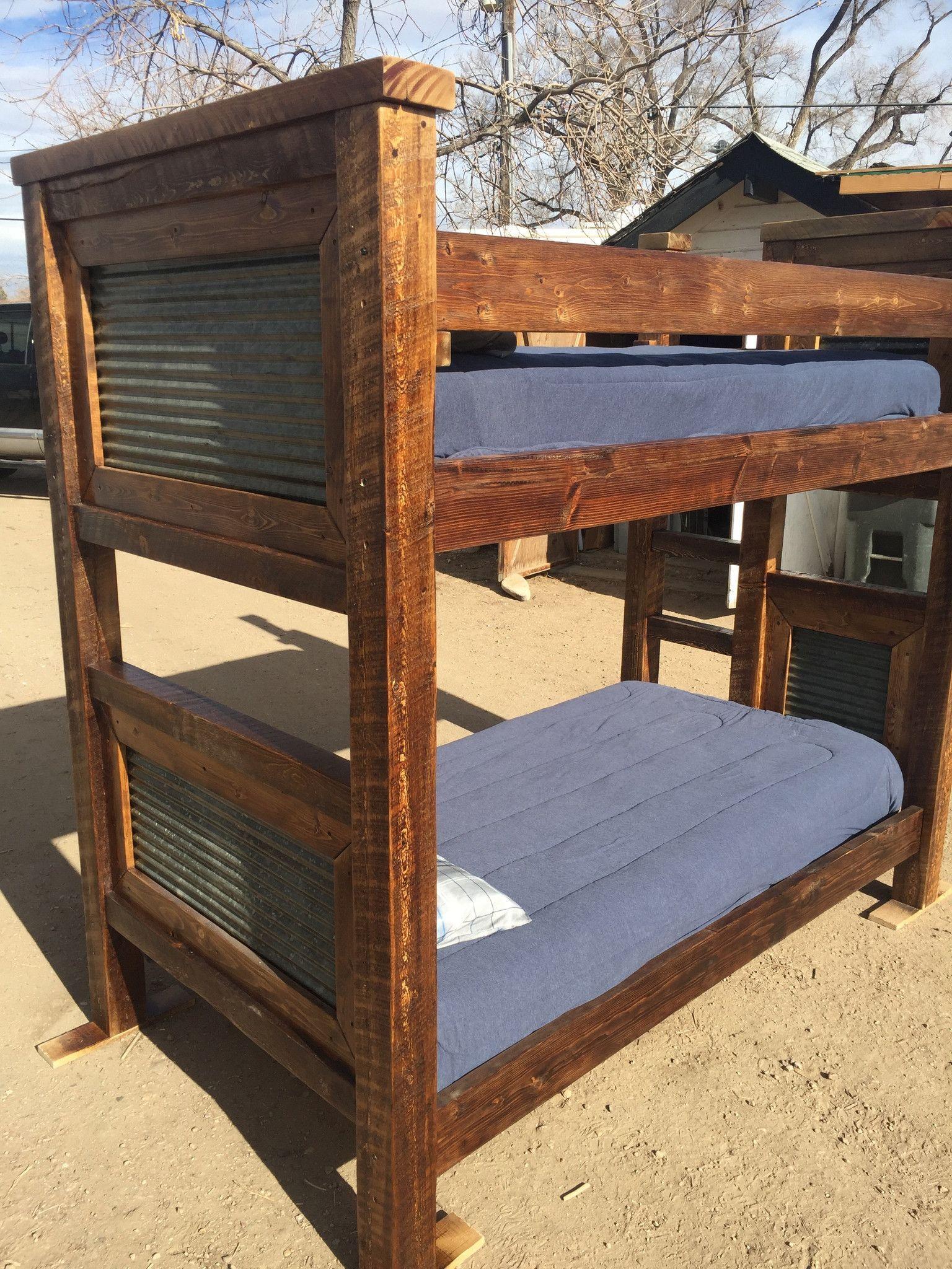 Rustic trim bunk beds