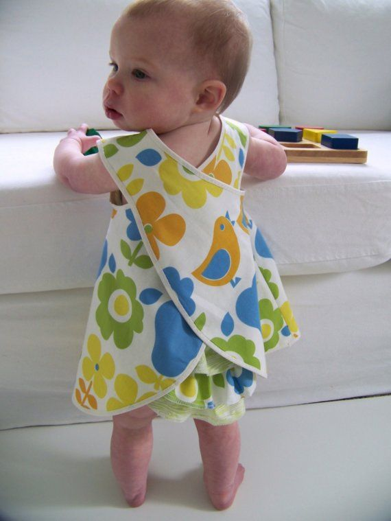 Baby and Toddler Pinafore Dress Sewing Pattern, PDF Tutorial (sizes ...