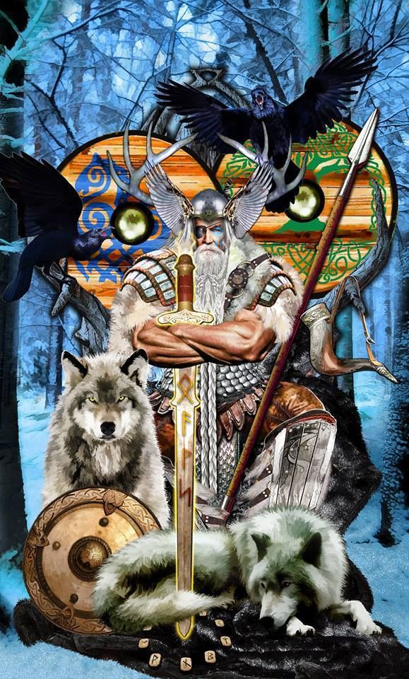 d2b8c357 In Norse mythology, Odin is the All Father, the supreme god | Norse ...