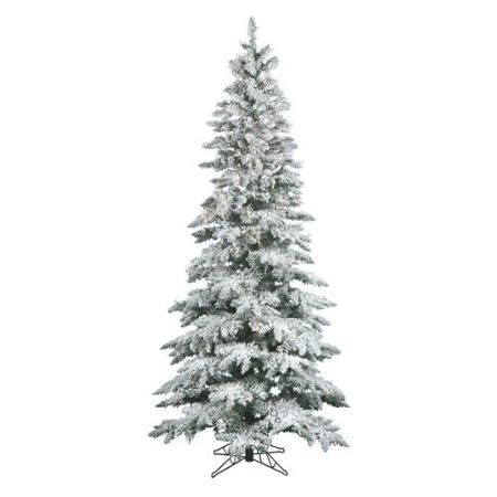 vickerman pre lit 75 flocked slim utica artificial christmas tree walmartcom - Black Christmas Tree Walmart