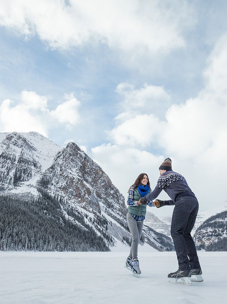 Lace up your skates in Alberta, Canada Winter outdoor