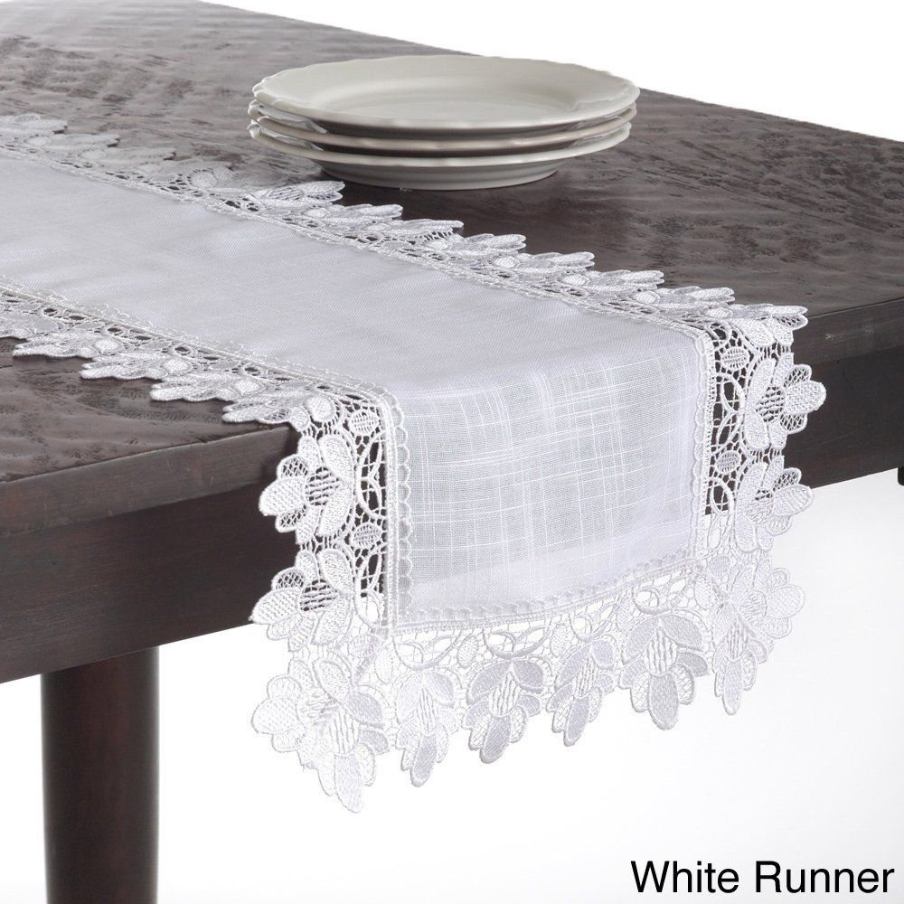 Lace Trimmed Table Linens Table Linens Lace Table Lace Table Runners