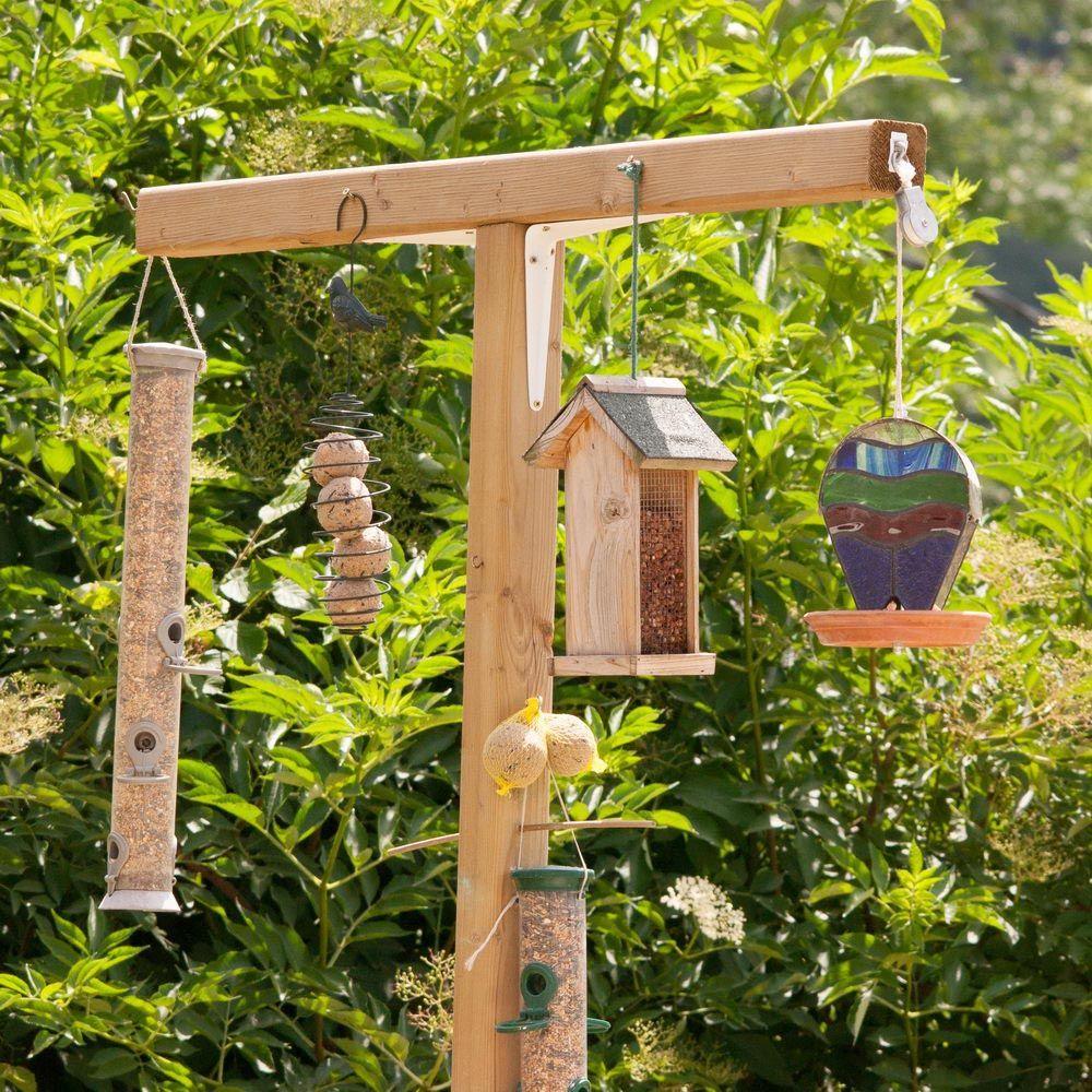 Bird Feeder Station With Planter Stand Wooden Bird Feeders Bird Feeding Station Bird Feeder Stands
