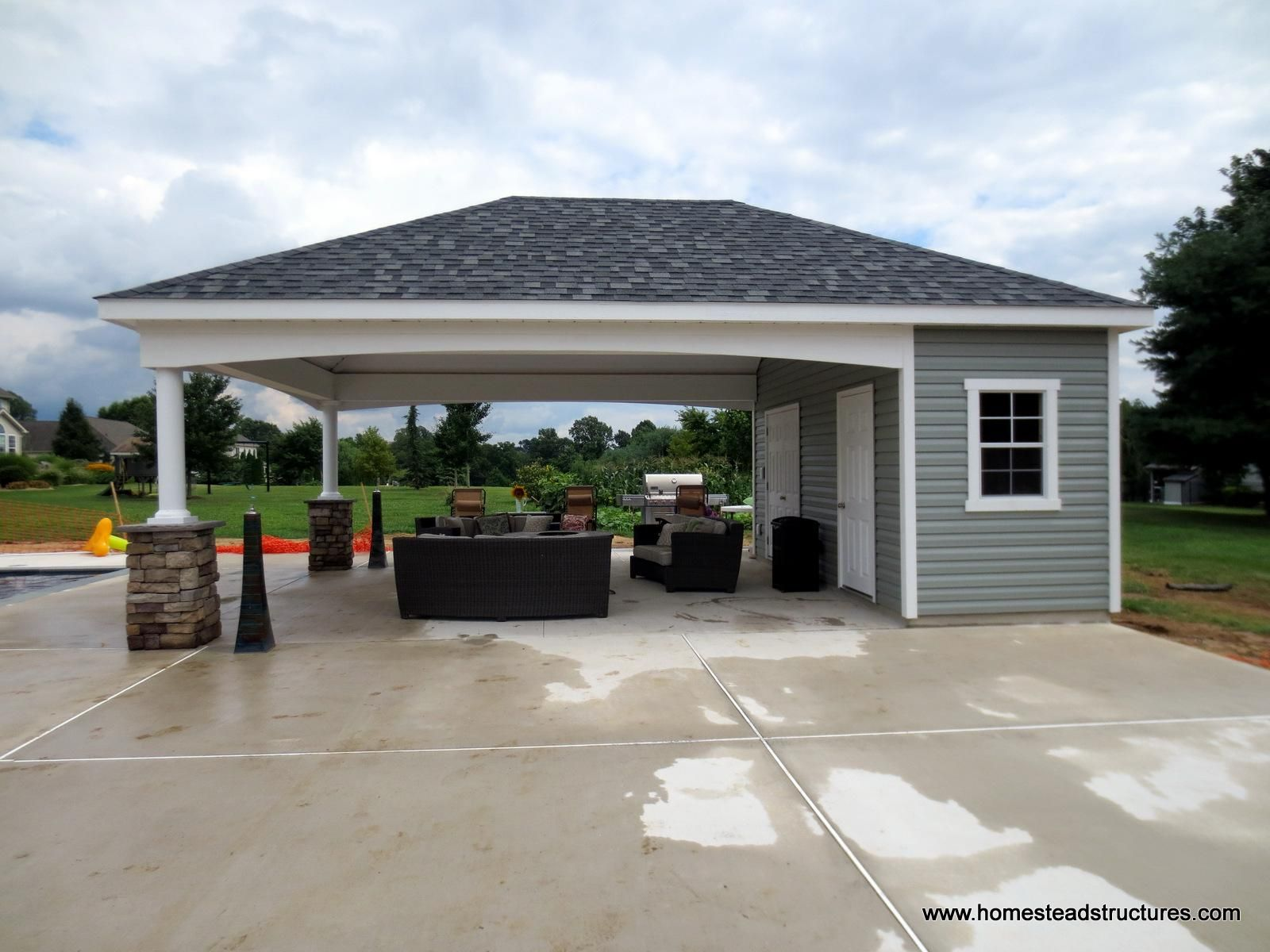 15++ Detached garage pool house combo inspirations