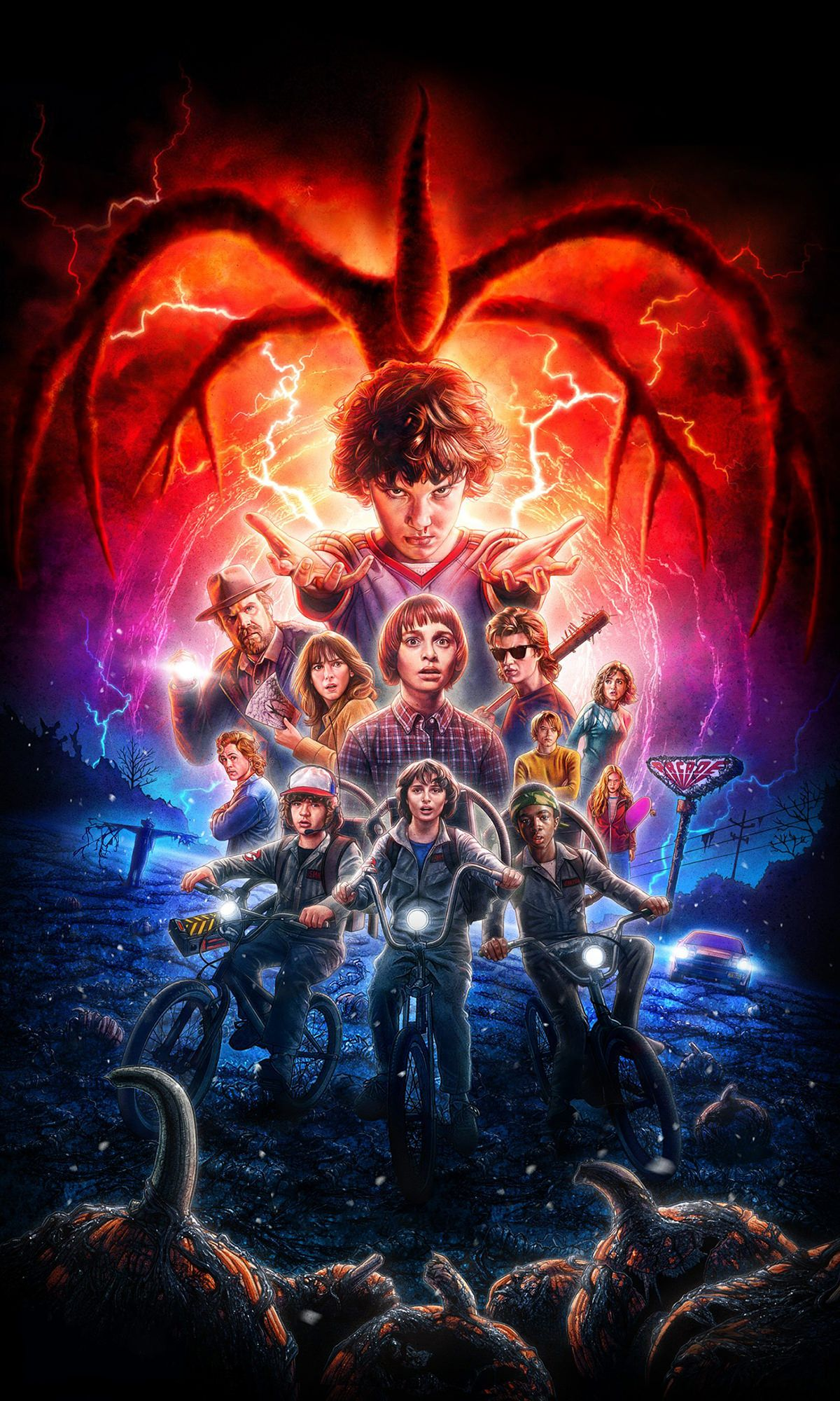 Does anyone have the stranger things 2 poster like this without the logo!?