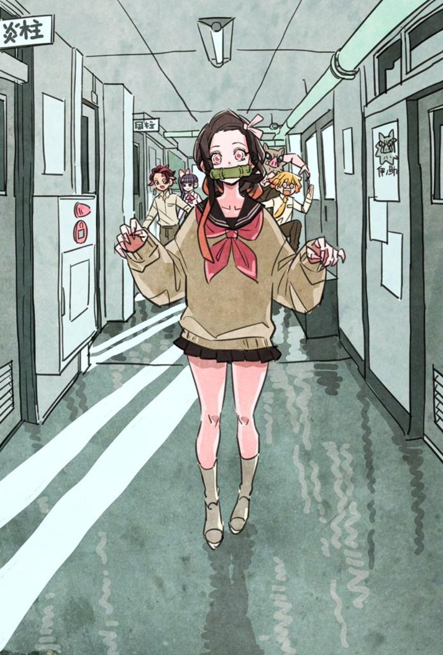善逸のインスタは禰豆子ちゃん一色だろーなー🤔 タケウチ, かわいい イラスト 女の子, Is アニメ
