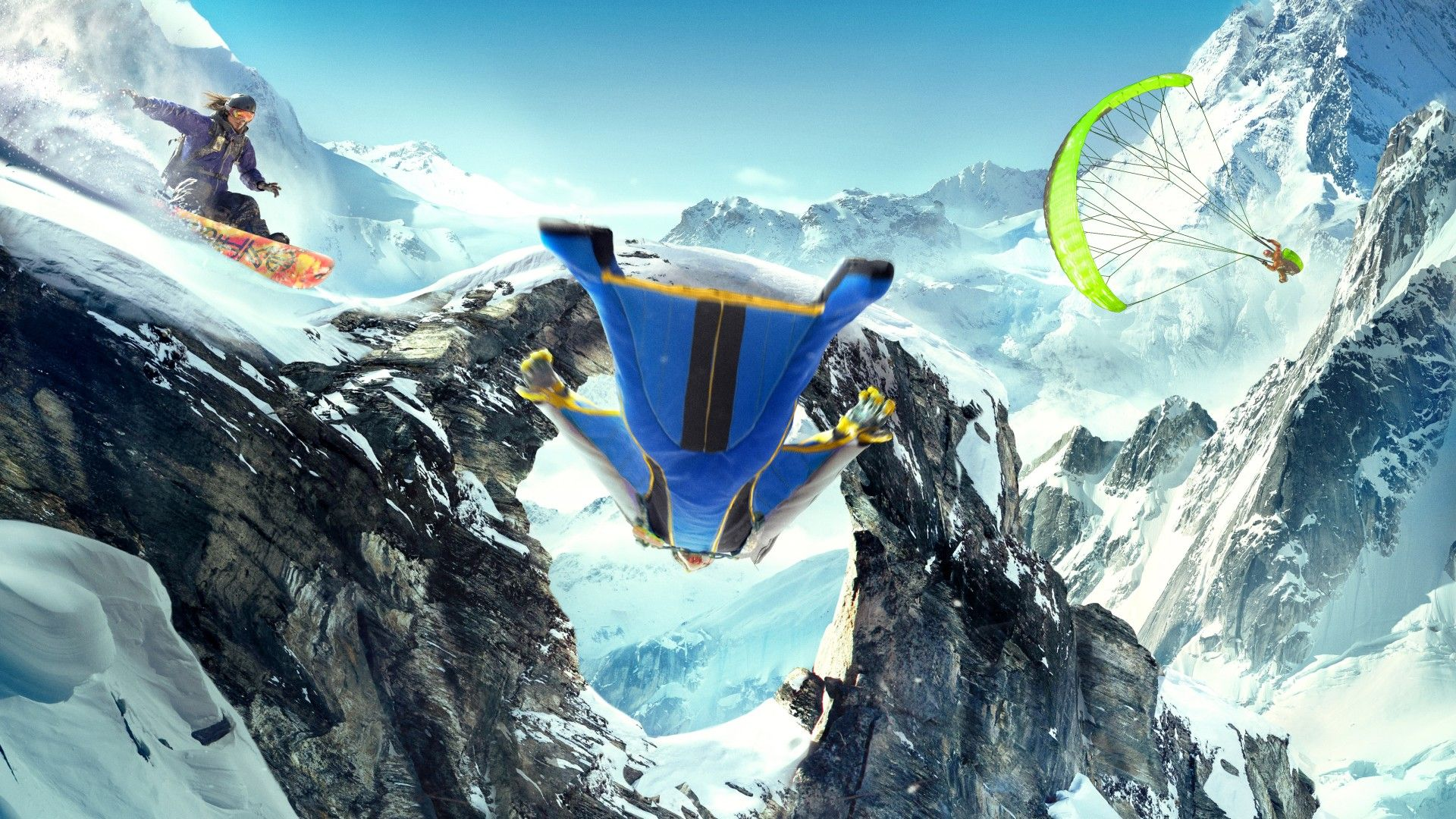 Top Hdq Paragliding Images Wallpapers Cool Mpc Collection Steep Game Paragliding Snowboarding