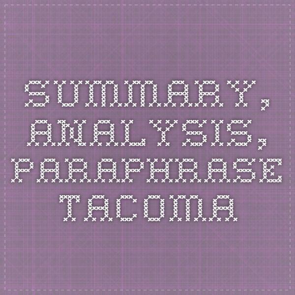 Summary and analysis essay