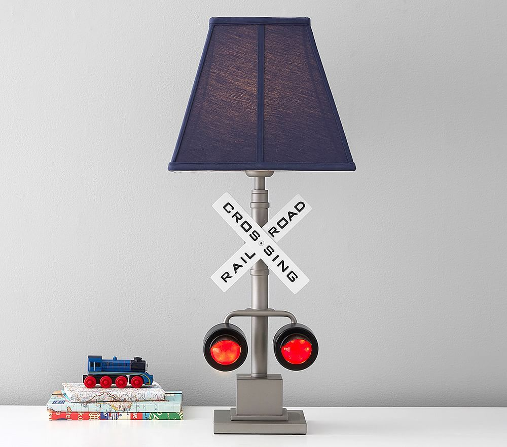 Railroad Crossing Lamp Kids Lamp Pottery Barn Kids In 2020 Railroad Lamp Lamp Room Lamp