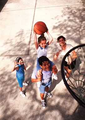 Family Playing Basketball Stock Photo Of Hispanic Family Playing Basketball Together Outdoors Free Family Activities Frugal Family Fun Family Moments