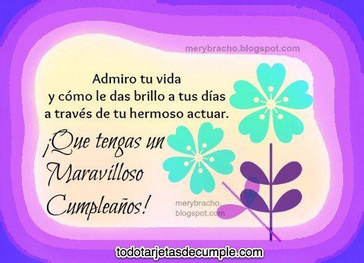 Tarjetas De Cumpleaños Con Frases Lindas Palabras De Feliz Cumpleaños Feliz Cumpleaños Cuñada Imagenes Feliz Cumpleaños Para Mí