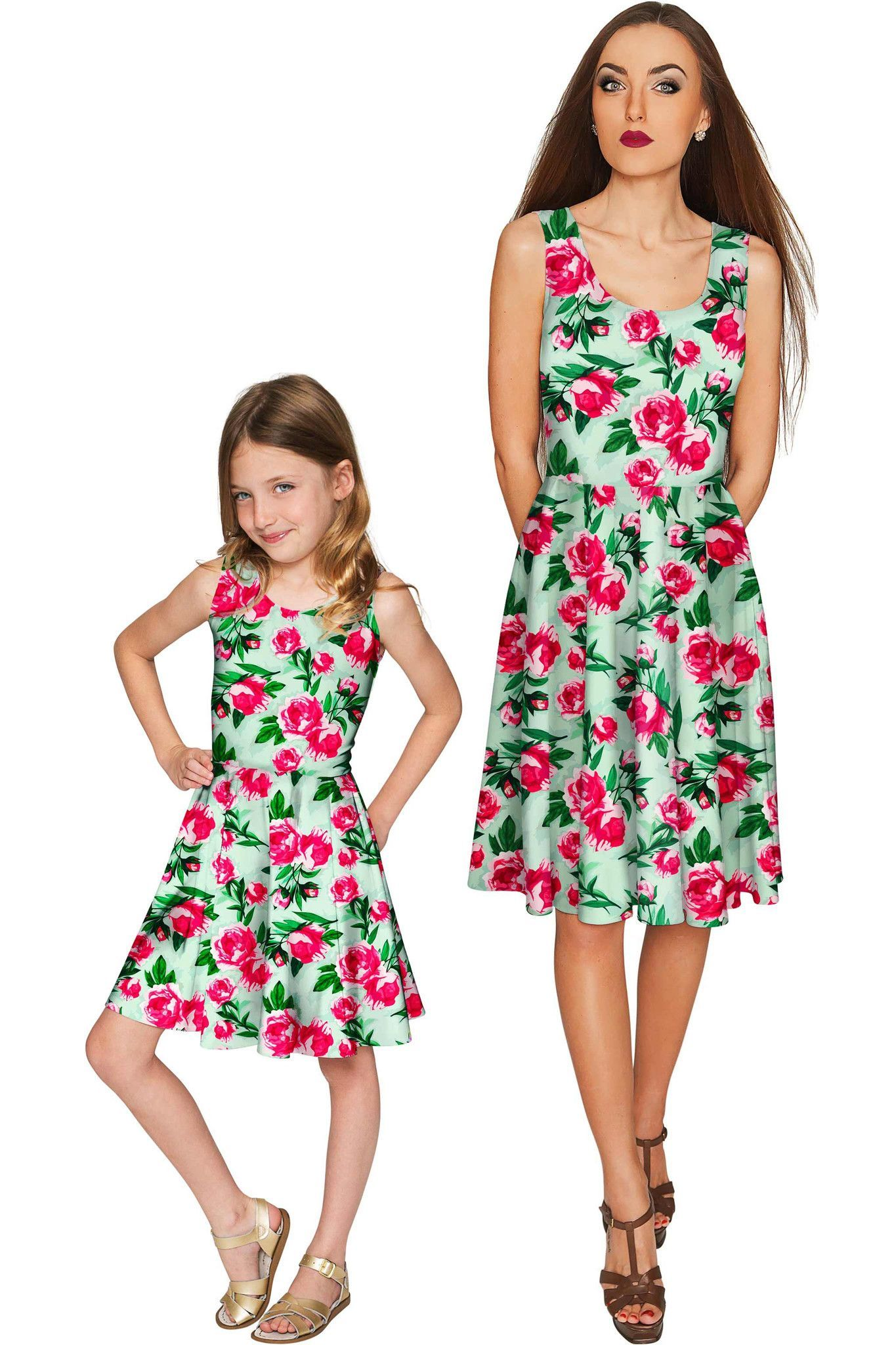 cfa9b056e4ab7 Sweetheart Mia Fit & Flare Skater Mommy and Me Dresses | Mommy & Me ...