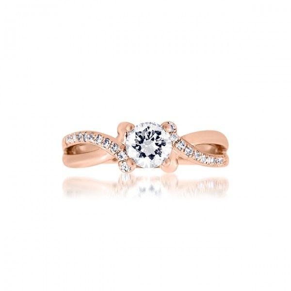Bague de mariage rose