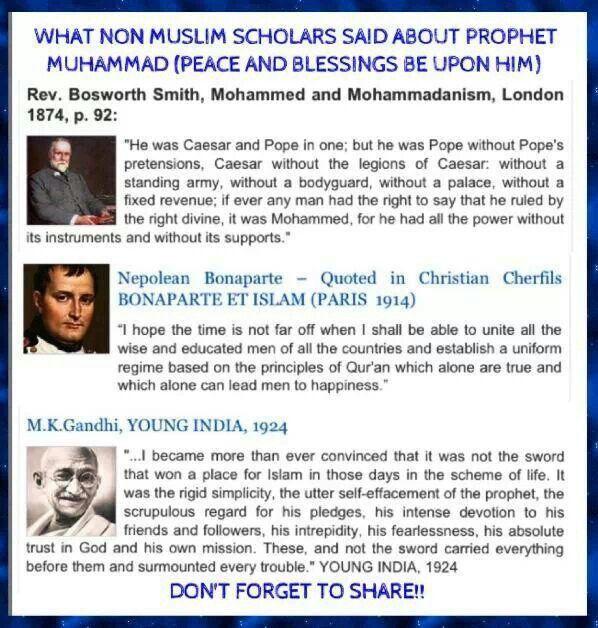 Non Muslims on Mohammed PBUH, the Prophet of Islam.