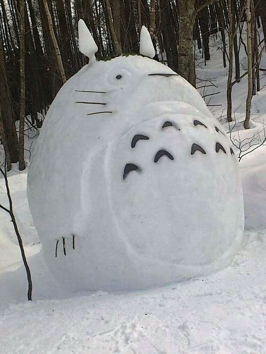 there were a good deal of totoros snow sculptures snow and totoro. Black Bedroom Furniture Sets. Home Design Ideas