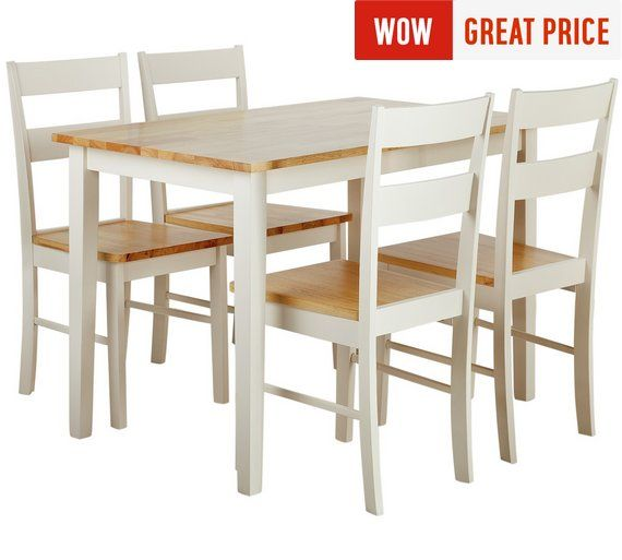 buy collection chicago solid wood table 4 chairs two tone at rh pinterest com