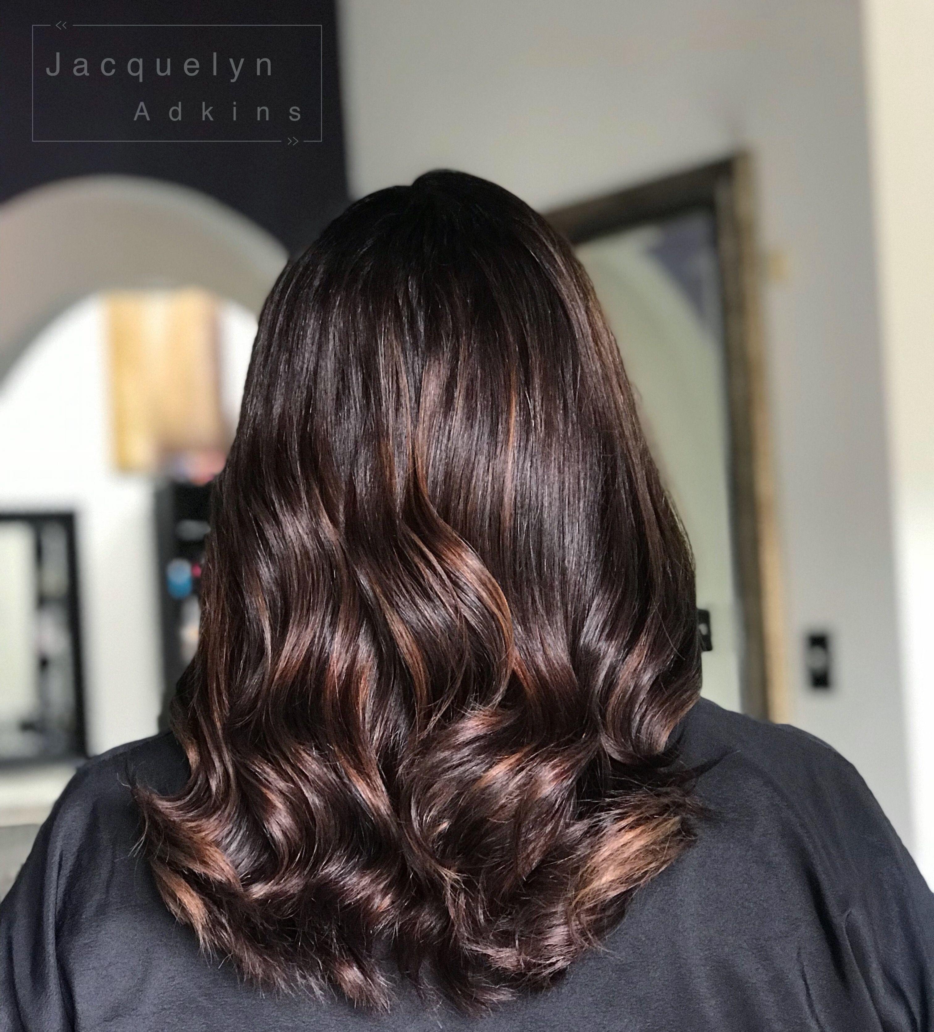 Follow My Instagram Unevneib Caramel Balayage Dark Root Natural Root Short Hair Medium L Hair Color Light Brown Dark Hair With Highlights Curls For Long Hair