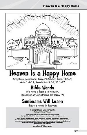 Yearning Heart-Sunlight Kids Lesson Guide Heaven Is a Happy Home - youth minister resume