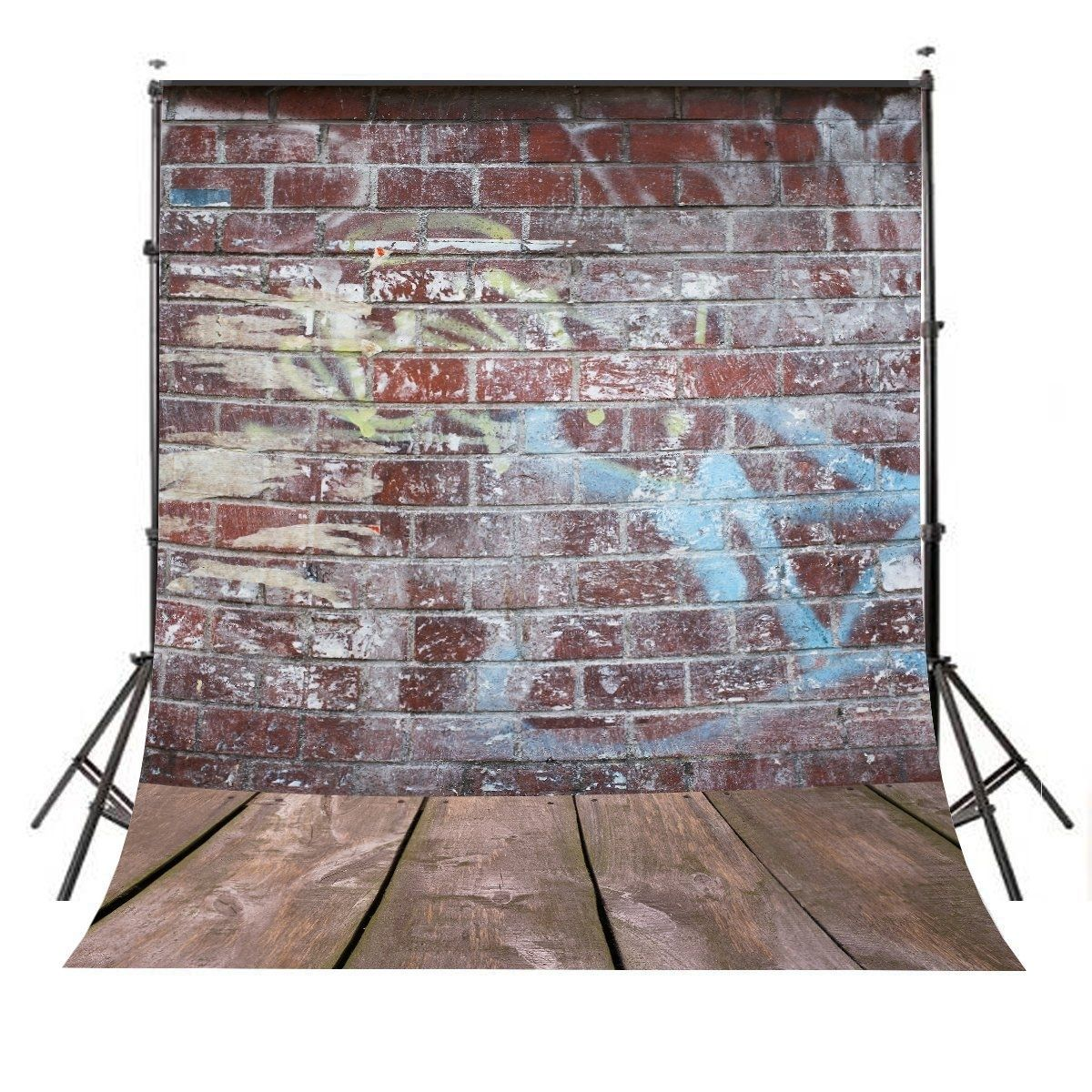 5x7ft Backdrop Colourful Brick Wall Background Classic Wood Floor Photography#5x7ft #backdrop #background #brick #classic #colourful #floor #photography #wall #wood
