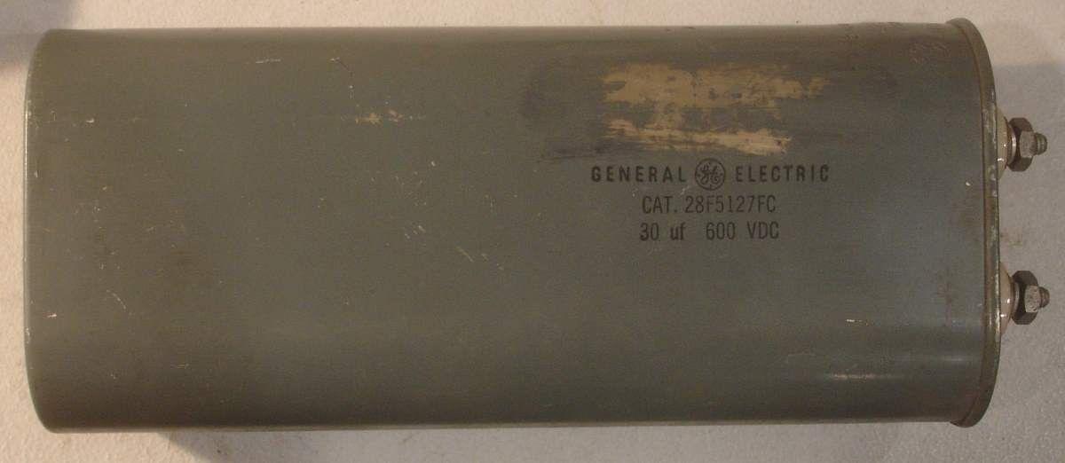 30uf 600vdc Ge Oil Cap Used 1 In Stock Oils Cap Capacitors