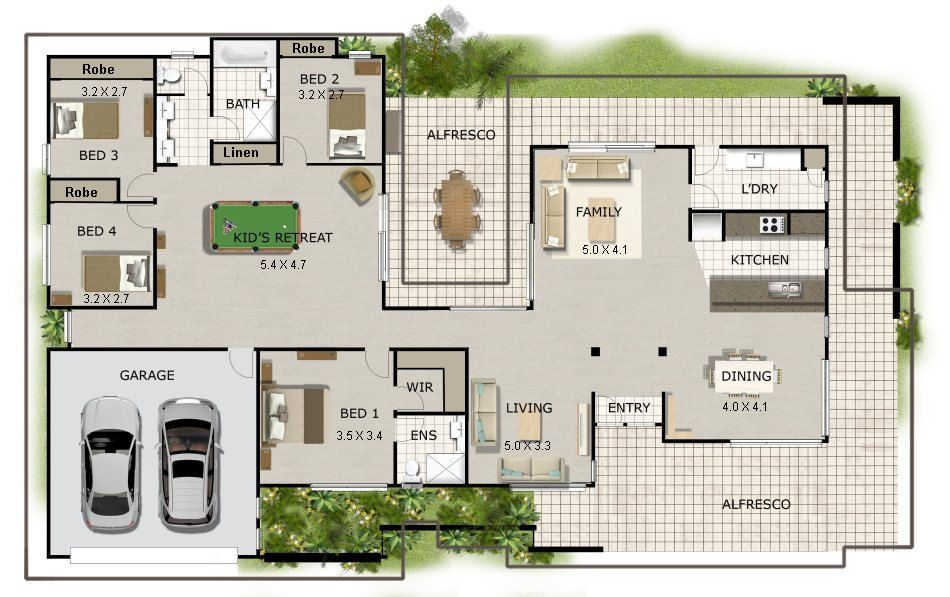 270m2 2906 Sq Ft 4 Bed Acreage Style 4 Bedroom House Plan Australia Acreage Home Plans 4 Bed Colonial House Plans Homestead Colonial House Plans Single Storey House Plans House Plans Australia