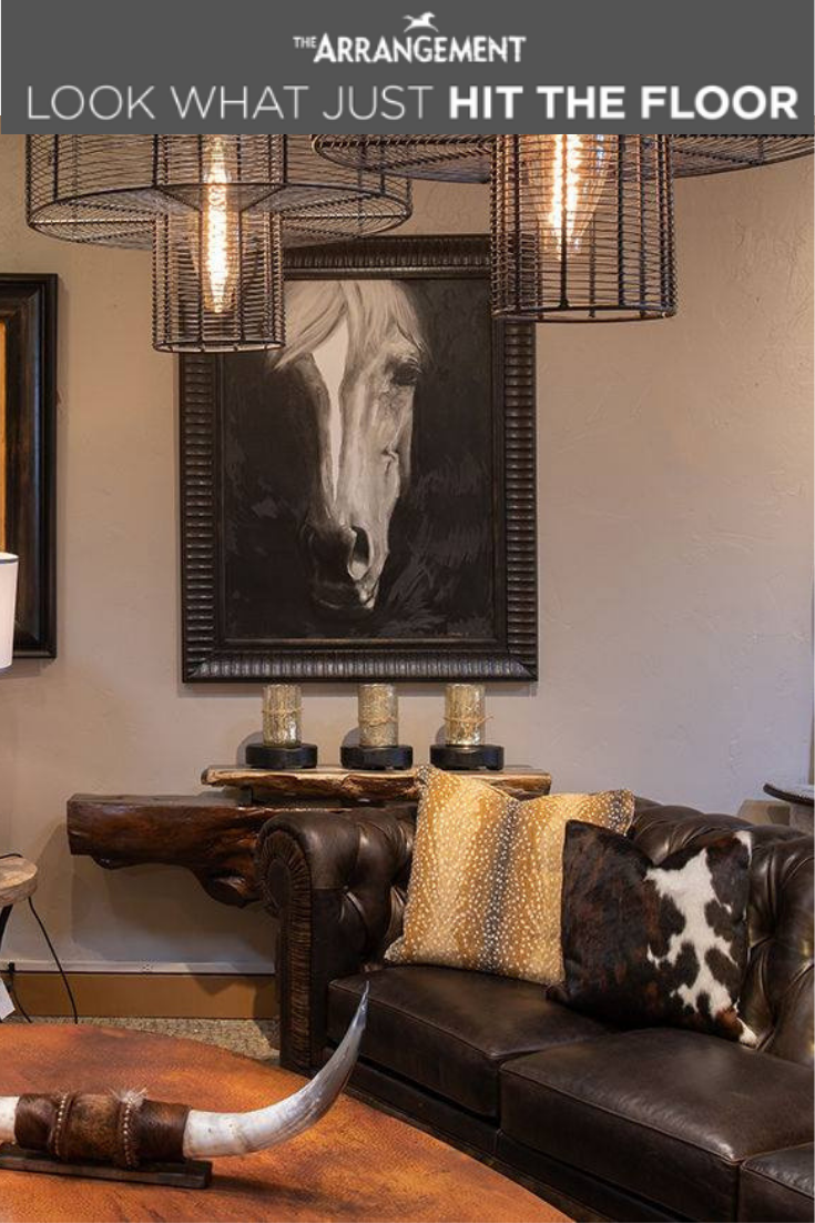 Own The Western Look Find More Amazing Living Room Styles Like This In Store Or Onlin Interior Design Rustic Western Style Living Room Modern Furniture Stores