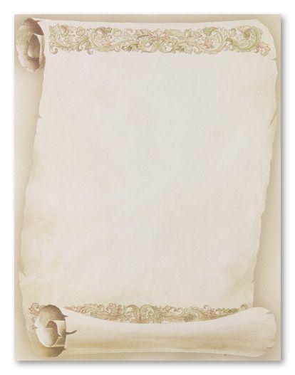 free printable elegant stationery templates florentine scroll