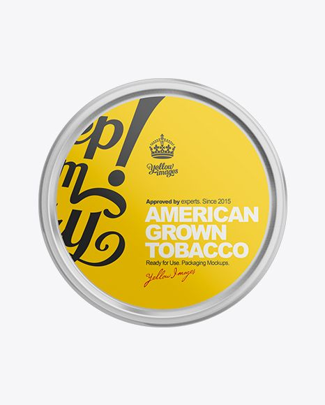 1.2oz Tobacco Can Mockup. Preview (Top View)