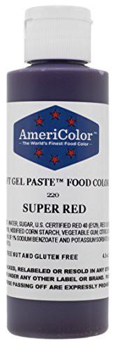 Americolor 133ml Liquid Gel Food Color 45Ounce Super Red