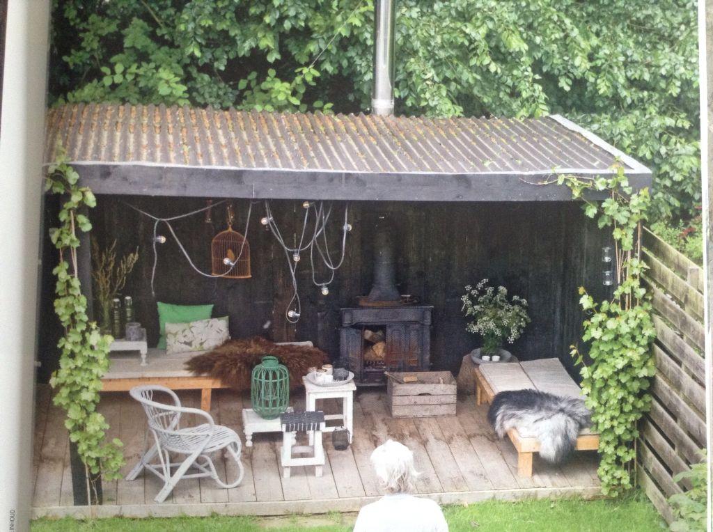Veranda in de tuin vt wonen bijzonder buiten pinterest stove verandas and gardens - Outdoor tuin decoratie ideeen ...