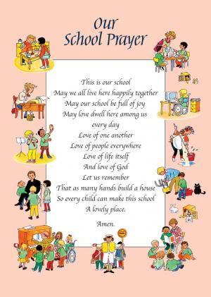 Personalised School Prayer border design by Gunvor Edwards, sample ...