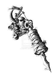 Resultado de imagen para tattoo gun drawing