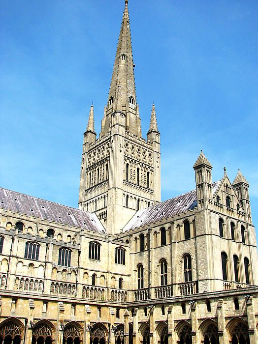 Norwich Cathedral View From The Cloisters Stephanie Grant