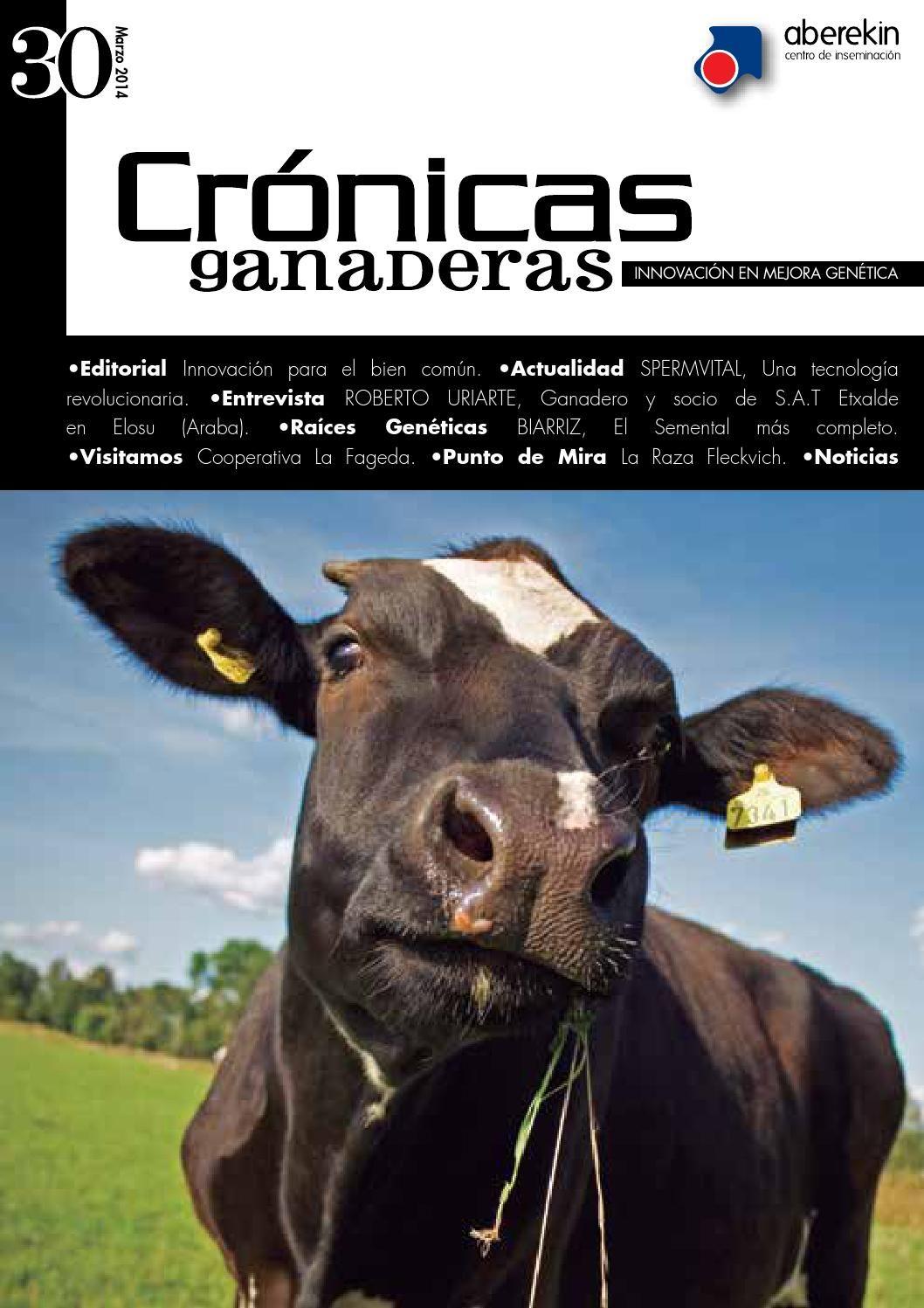 Crónicas ganaderas 30 Revista editada por Innovamk sobre ganado vacuno, mejora genética e inseminación artificial.