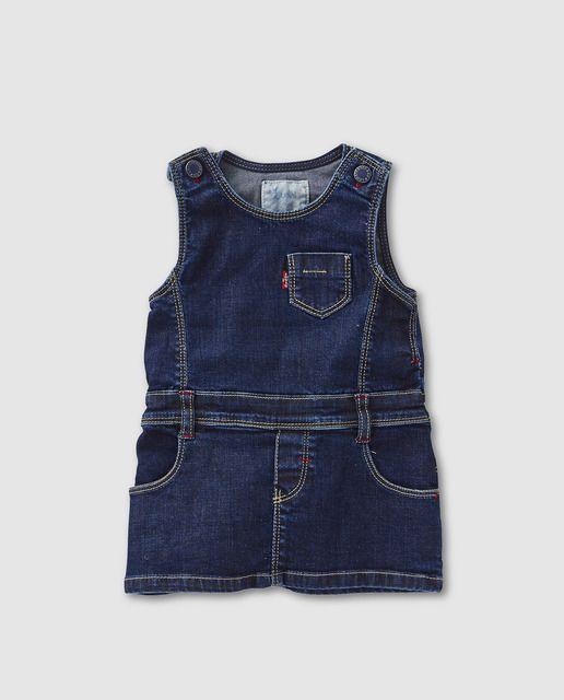 Pichi vaquero de bebé niña Levi´s Kidswear en azul con bolsillos ... ade935dfaf2