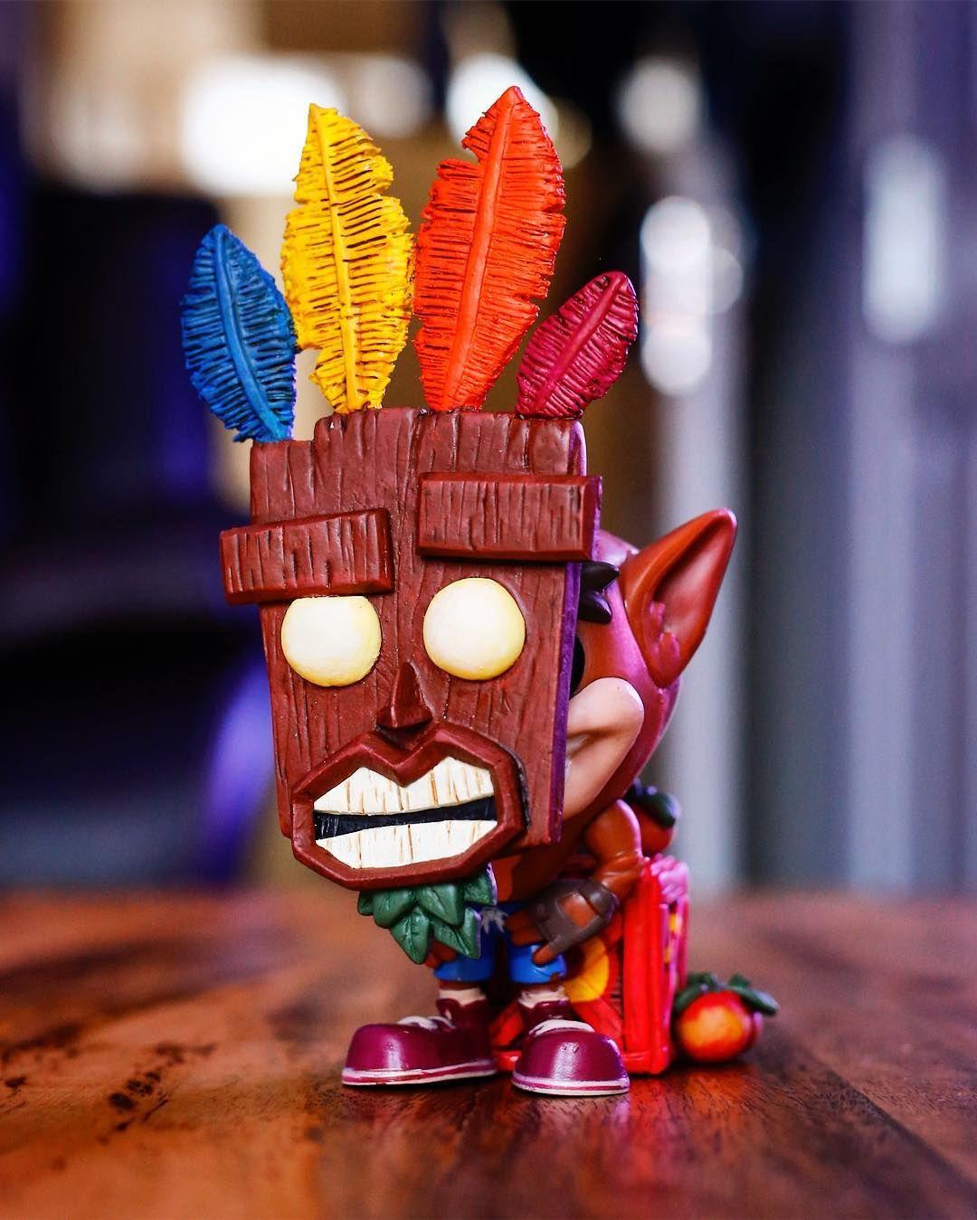 Crash Custom Funko Pop By Abbernaffy Customs Abbernaffy Customs On Instagram Here It Is Aku Aku Crash This Th Custom Funko Pop Pop Custom Funko Pop Toys