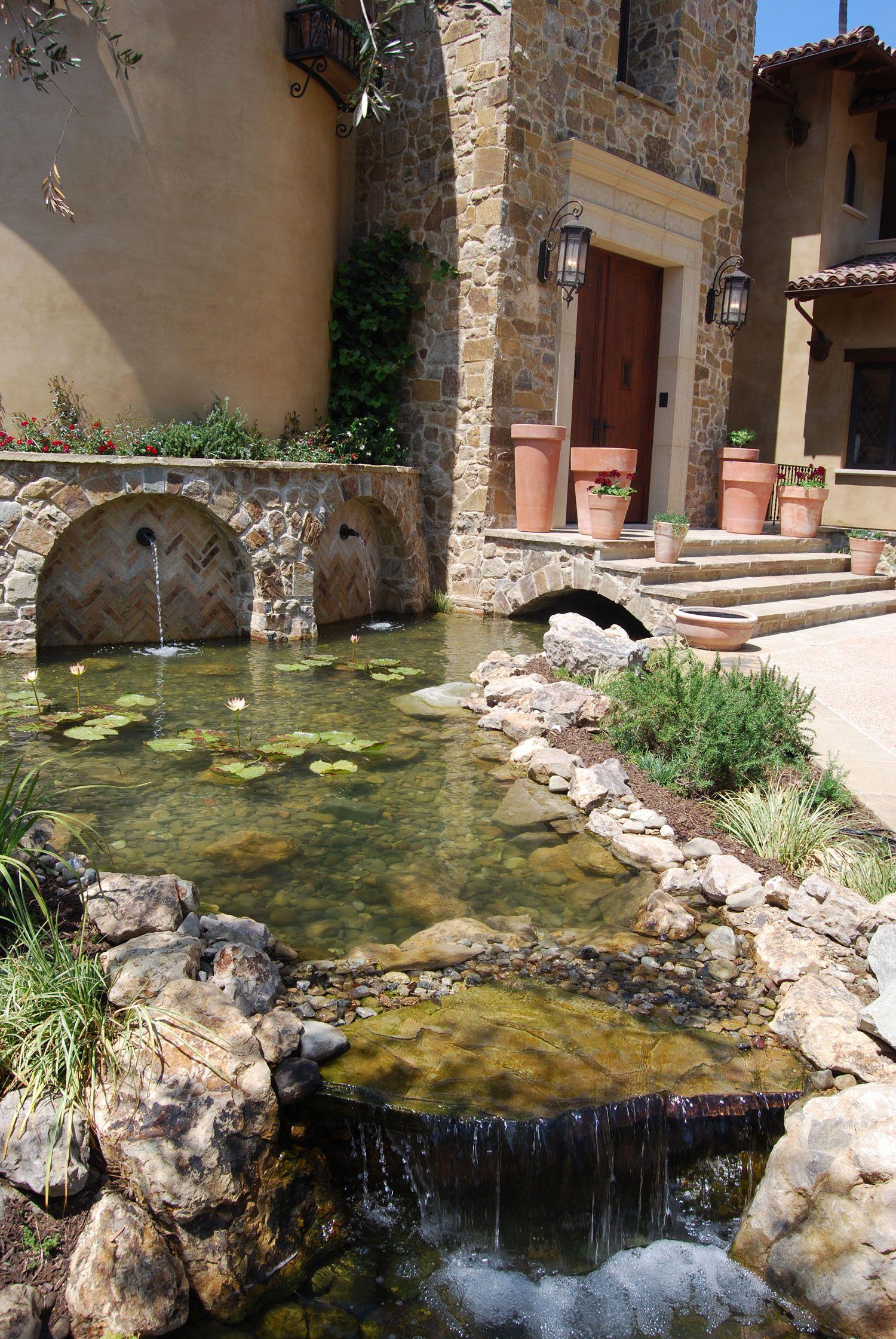 Custom Waterfall And Pond Ponds Backyard Backyard Water
