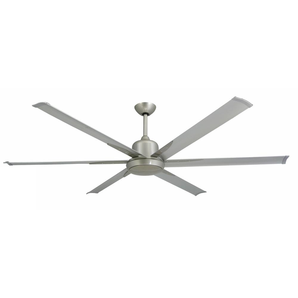 Troposair Titan 72 In Indoor X2f Outdoor Brushed Nickel Ceiling Fan And Light 88251 88278 The Brushed Nickel Ceiling Fan Ceiling Fan Industrial Ceiling Fan