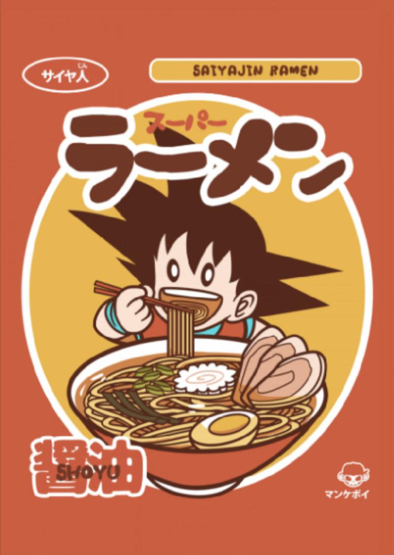 Saiyajin Ramen Posters Art Prints Cool Anime Pictures Cool Artwork