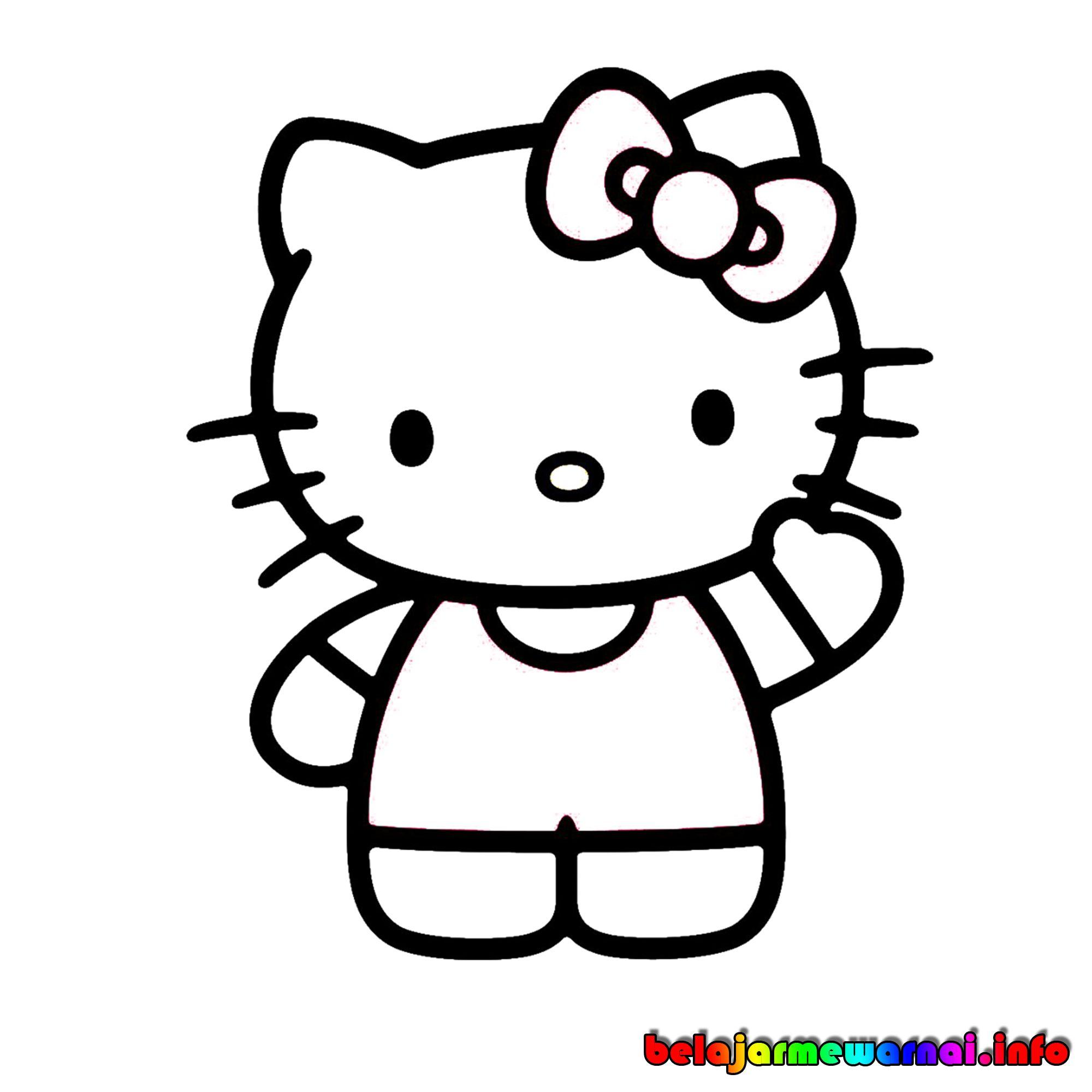 Download 94 Gambar Kartun Lucu Hitam Putih Terbaik Gratis Hello Kitty Kartun Animasi