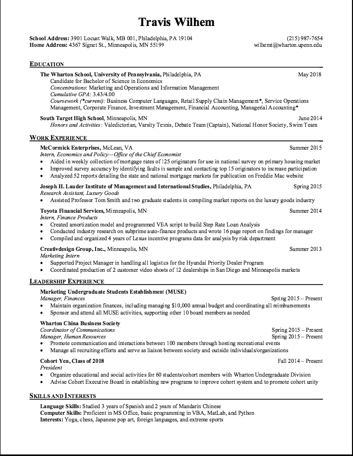 Marketing Resume Skills Sample Manager Finance Resume  Httpexampleresumecvsample