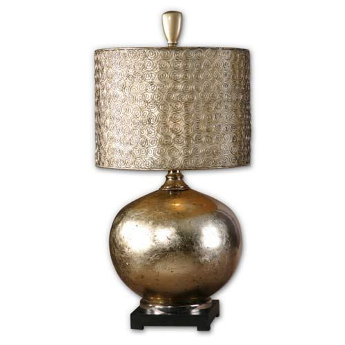 Julian Antiqued Gold And Silver Leaf Table Lamp Beautiful