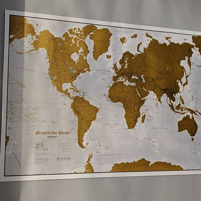 Carte Du Monde A Gratter Voyage Pays Visités Affiche Mappemonde Cadeaux Souvenir