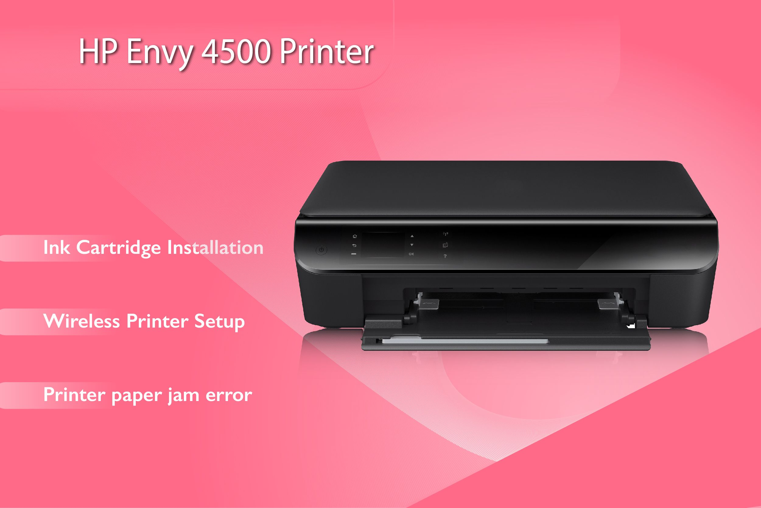 Easy Steps For Ink Cartridge Installation Complete Guidance For Wireless Printer Setup Also Fix Hp Envy 4500 Wireless Printer Printer Printer Ink Cartridges